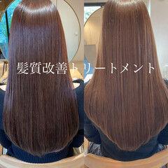 ツヤ髪 髪質改善トリートメント ミディアムレイヤー 大人ヘアスタイル ヘアスタイルや髪型の写真・画像