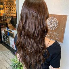 ココアブラウン ココアベージュ ロング フェミニン ヘアスタイルや髪型の写真・画像
