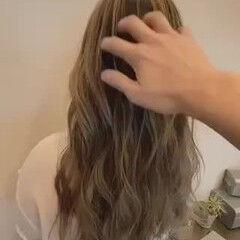 ロング トレンド バレイヤージュ エレガント ヘアスタイルや髪型の写真・画像