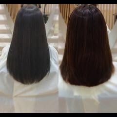 ナチュラル 髪質改善カラー 髪質改善トリートメント 髪質改善 ヘアスタイルや髪型の写真・画像