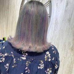 セミロング フェミニン 透明感カラー 圧倒的透明感 ヘアスタイルや髪型の写真・画像