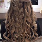 編み込みヘア モテ髪 簡単ヘアアレンジ セミロング