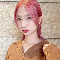 ハンサムショート ショート コンパクトショート ピンクアッシュ ヘアスタイルや髪型の写真・画像