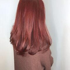 カラーバター 赤茶 ワンカール ロング ヘアスタイルや髪型の写真・画像