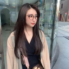 ナチュラル サロモ ダークカラー 暗髪女子 ヘアスタイルや髪型の写真・画像