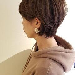 ナチュラル ショート 秋冬ショート カジュアル ヘアスタイルや髪型の写真・画像