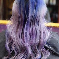 バレイヤージュ 外国人風カラー ロング ダブルブリーチ ヘアスタイルや髪型の写真・画像