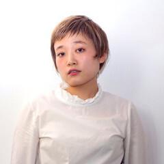 ナチュラル 丸顔 ショート ベース型 ヘアスタイルや髪型の写真・画像