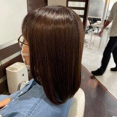ミディアム 最新トリートメント トリートメント 艶髪 ヘアスタイルや髪型の写真・画像