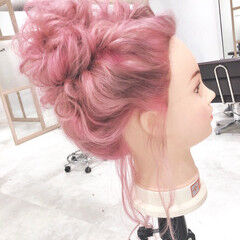 学生 原宿 ガーリー ヘアアレンジ ヘアスタイルや髪型の写真・画像