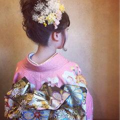成人式ヘア ヘアアレンジ お団子 成人式 ヘアスタイルや髪型の写真・画像