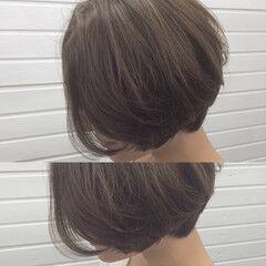 上品 エレガント グレージュ ハイライト ヘアスタイルや髪型の写真・画像