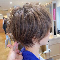 ショートヘア ショート ナチュラル ショートマッシュ ヘアスタイルや髪型の写真・画像
