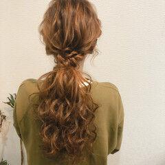 ヘアセット ローポニー ローポニーテール ねじり ヘアスタイルや髪型の写真・画像
