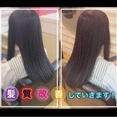 ナチュラル 髪質改善 髪質改善カラー うる艶カラー ヘアスタイルや髪型の写真・画像