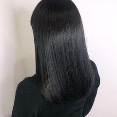 透け感 暗髪 最新トリートメント ナチュラル ヘアスタイルや髪型の写真・画像