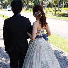 ヘアアレンジ セミロング 花嫁 エレガント ヘアスタイルや髪型の写真・画像