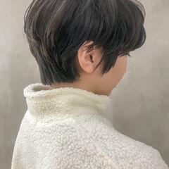 ショート マッシュヘア パーマ ショートボブ ヘアスタイルや髪型の写真・画像