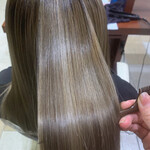ナチュラル セミロング 髪質改善 髪質改善トリートメント