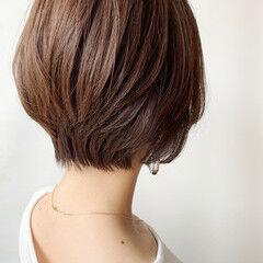 ばっさり ショート 丸みショート 大人かわいい ヘアスタイルや髪型の写真・画像