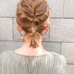 フェミニン ボブ 切りっぱなしボブ 簡単ヘアアレンジ ヘアスタイルや髪型の写真・画像