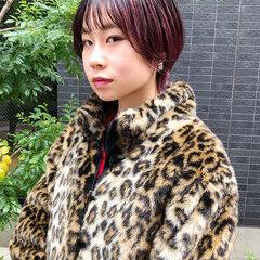 小顔ショート グラデーションカラー ハイトーンカラー モード ヘアスタイルや髪型の写真・画像