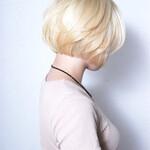 艶髪 モード 透明感 ショートボブ