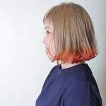ナチュラル グラデーションカラー オレンジ レッド