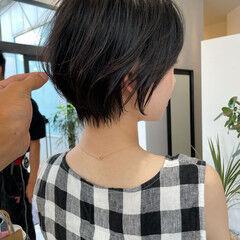 ナチュラル ミニボブ ショート ショートヘア ヘアスタイルや髪型の写真・画像