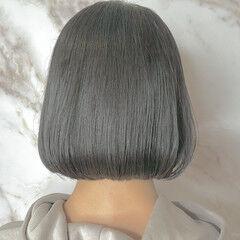外ハネボブ ミニボブ 切りっぱなしボブ ショートボブ ヘアスタイルや髪型の写真・画像