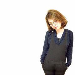 色気 縮毛矯正 3Dカラー ボブ ヘアスタイルや髪型の写真・画像