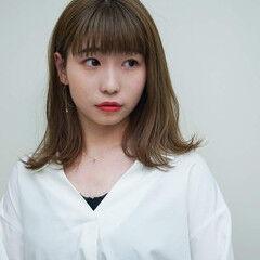 名古屋市 外ハネボブ デート ミディアム ヘアスタイルや髪型の写真・画像