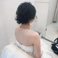 フェミニン 結婚式 アップスタイル ブライダル ヘアスタイルや髪型の写真・画像