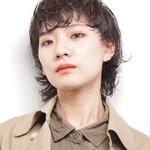 デジタルパーマ 艶髪 ウルフカット ナチュラル