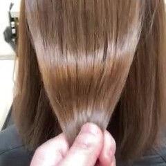 縮毛矯正 ツヤ髪 ダメージレス くせ毛 ヘアスタイルや髪型の写真・画像