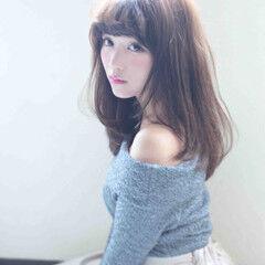 セミロング モテ髪 愛され ガーリー ヘアスタイルや髪型の写真・画像