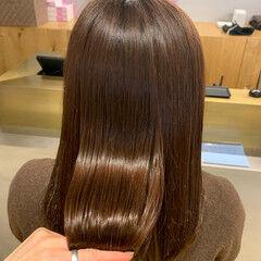 ナチュラル セミロング 髪質改善カラー n. ヘアスタイルや髪型の写真・画像