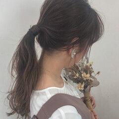 デート ナチュラル ママヘア コテ巻き ヘアスタイルや髪型の写真・画像