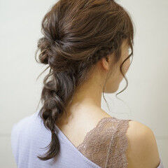 夏 ルーズ カジュアル 簡単ヘアアレンジ ヘアスタイルや髪型の写真・画像