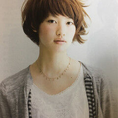 大人女子 ショート 大人かわいい アシメバング ヘアスタイルや髪型の写真・画像