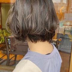 ナチュラル ボブ 透明感カラー ラベージュ ヘアスタイルや髪型の写真・画像