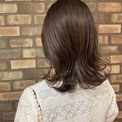 ナチュラル 透明感 ミディアム アディクシーカラー ヘアスタイルや髪型の写真・画像
