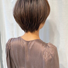 ハンサムショート ナチュラル ショートボブ ショート ヘアスタイルや髪型の写真・画像