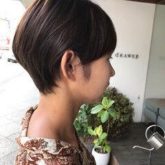 ショートボブ 毛束感 ナチュラル ショート ヘアスタイルや髪型の写真・画像