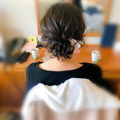 ヘアアレンジ ヘアセット アップスタイル ショート ヘアスタイルや髪型の写真・画像