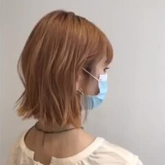 巻き髪 ボブ ミニボブ コテ巻き風パーマ ヘアスタイルや髪型の写真・画像