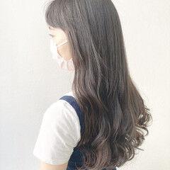 前髪 ナチュラル 簡単スタイリング ゆるふわパーマ ヘアスタイルや髪型の写真・画像