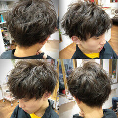 マッシュショート メンズカット ショート ナチュラル ヘアスタイルや髪型の写真・画像
