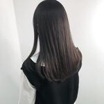 ツヤ髪 ナチュラル ショコラブラウン 暗髪