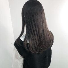 ツヤ髪 ナチュラル ショコラブラウン 暗髪 ヘアスタイルや髪型の写真・画像